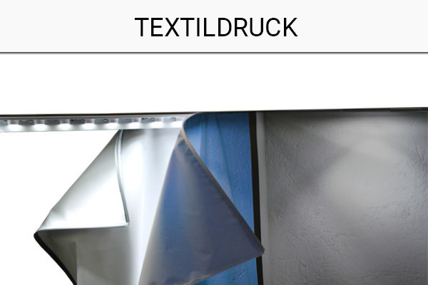 Textildruck-Messestand