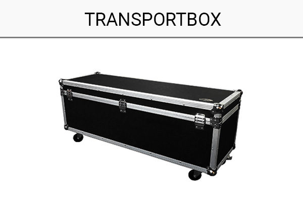 Transportbox-Messestand